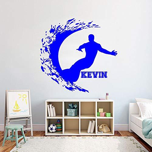 guijiumai Surfen Vinyl Wandaufkleber Für Kinderzimmer Extreme Sport Entfernen Aufkleber Schlafzimmer Kindergarten Dekoration Kunst Poster Z 1 57x60 cm