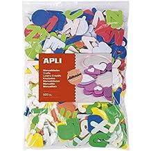 APLI Kids - Formas de goma EVA adhesivas letras 500 uds.