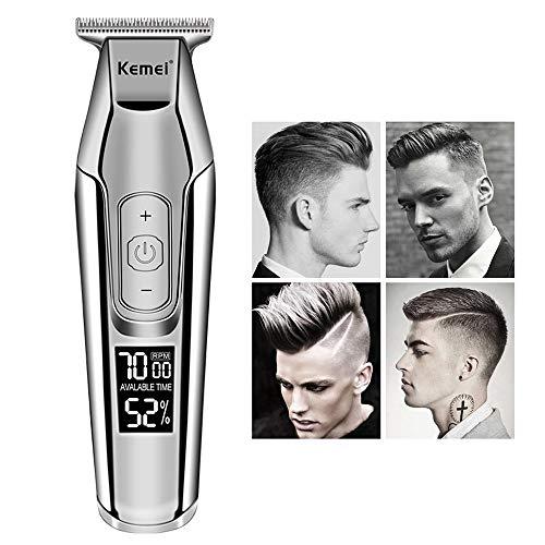 QYY Öl Kopf Haarschneidemaschine, Carving Haarschneider, LED-Modellierung Schriftzug Haarschneidemaschine, Schneiden Rasieren Carving-Tool Salon Friseur Styling-Tool - Dual-head-trimmer