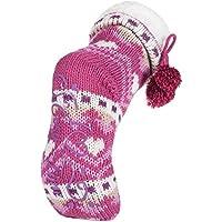 Donne pelliccia ecologica modelli a maglia allineati stivali pistone dell'interno con pinza e carino pom pon in 6 colori
