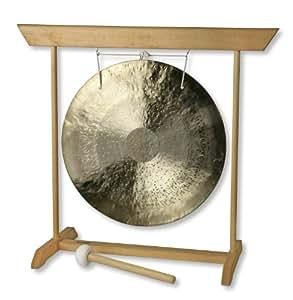 Feng (Wind) Gong Ø 35 cm mit Holzständer, Buche