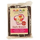 FunCakes Marzipan dark brown, 1er Pack (1 x 250 g)