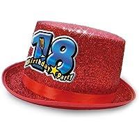 Cappello CILINDRO 18 Anni glitter - Buon Compleanno - colori assortiti -  invio del colore casuale a83a73c0923c