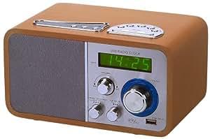 radio r veil avec connecteur usb 2 0 en bois. Black Bedroom Furniture Sets. Home Design Ideas