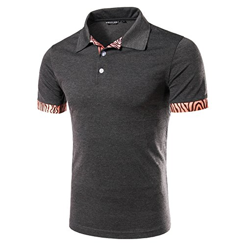 CXQ-T-Shirt QIN X Hommes pull à manches courtes revers Polo Casual tops des c8ac0411e287