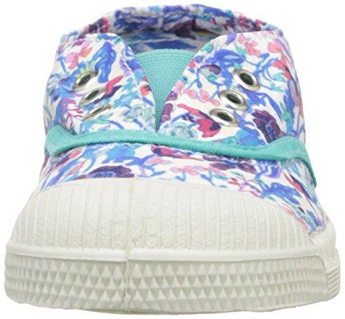 Bensimon Unisex-Kinder Tennis Elly Liberty Sneaker, Blau Mehrfarbig - Multicolore (9883 Fleurs)