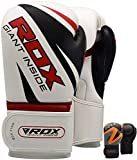 RDX Boxing Gloves for Training & Muay Thai - Maya Hide Leather Mitts for Sparring, Fighting & Kickboxing - Good for Punch Bag, Focus Pads, Grappling Dummy and Double End Speed Ball Punching
