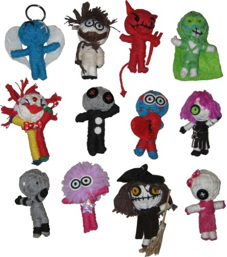 """FOREST GHOST, Officially Licensed Original Product, 12 Pack of 2.5"""" Handmade Wooden KEYCHAIN PORTACHIAVI DOLL"""