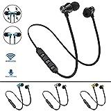 Gaddrt BT 4.1 Stereo-Kopfhörer-Headset Drahtloser magnetischer In-Ear-Ohrhörer Kopfhörer Headset Bluetooth-kopfhörer (Black)