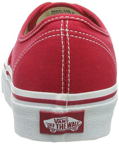 Vans U Authentic - Baskets Mode Mixte Adulte Rouge