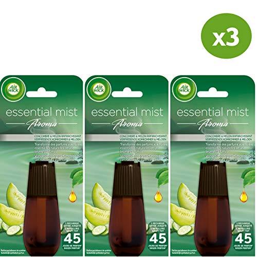 Air Wick Essential Mist Nachfüllpack für Parfüm Gurke - 3 Stück -