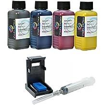 & # X41A; it carga cartuchos HP 302X L Negro y color, tinta 400ml de gran calidad + Refill Clip para impresora HP Officejet 3830All-in-One/3832All-in-One/4650All-in-One/4654All-in-One/3834All-in-One/3833All-in-One