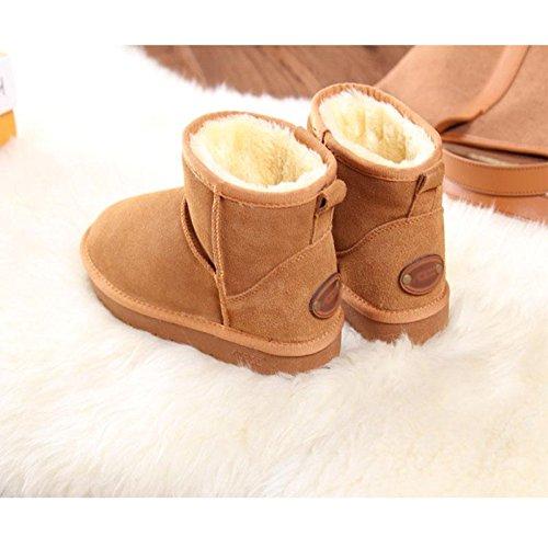 Bottes De Neige Chaudes D'hiver Bottillons Plus Épais Pour Les Chaussures De Randonnée En Plein Air, Marron, 40 Brown-35