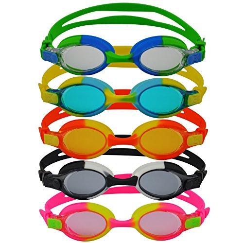 #DoYourSwimming »Picco« Kinder-Schwimmbrille, 100% UV-Schutz + Antibeschlag. Starkes Silikonband + stabile Box. TOP-Marken-QUALITÄT! AF-700, orange/gelb