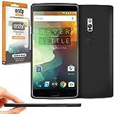 Orzly® - FlexiSlim Case para OnePlus 2 SmartPhone / Teléfono Móvil (ONE PLUS TWO - 2015 Modelo) - Super Slim (0.35mm) Funda de Protección en Semi Transparente NEGRO