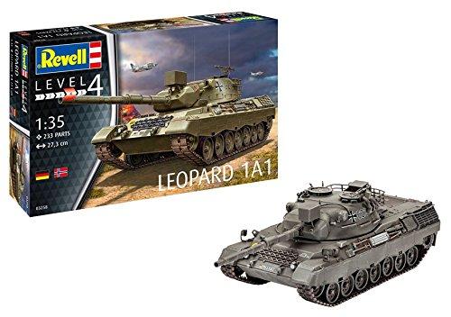 Revell 03258 - Modellbausatz Panzer 1:35 - Leopard 1A1 im Maßstab 1:35, Level 4, Orginalgetreue Nachbildung mit vielen Details -