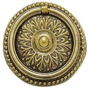 Ferrures & Patines - Poignee de meuble avec anneau en bronze style louis 16 pour commode, buffet, secretaire ou bureau