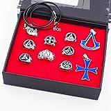 UII Assassin's Creed Halskette Anhänger Legierung Ring Schlüsselbund, Assassin's Creed Zubehör,E