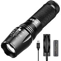 [Sponsorizzato]Elekin torcia CREE XM-L T6 LED, impermeabile, 5 modalità di illuminazione, con batteria 18650 e Ladee involontarie