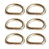 Beetest-D-Ringe 50 Stück Halbrundringe Eisen Goldene