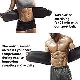 Collectrio Sweat Waist Trimmer Fat Burner Belly Tummy Yoga Wrap Exercise Body Slim look Belt Free Size SWEAT BELT