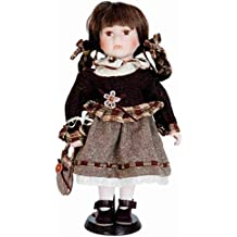 Clayre & Eef 6PP0023 motivo bambola con vestito marrone 15 x 10 x 30 cm