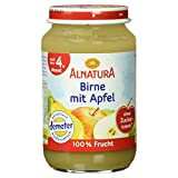 Alnatura Demeter Bio Birne-Apfel, glutenfrei, 6er Pack (6 x 190 g)