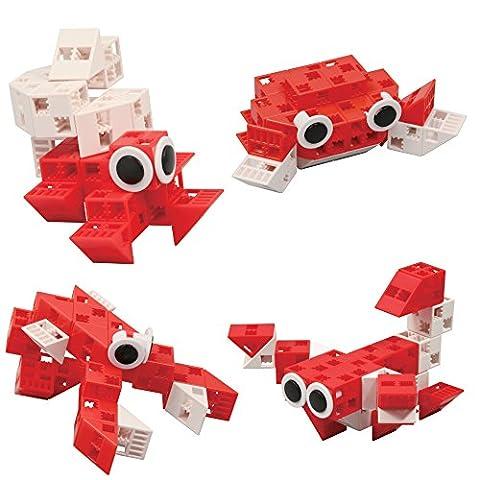 Click-A-Brick Sandy Sidekicks Pädagogisches Spielzeug 30 tlg Klötzchenbauset - Optimales