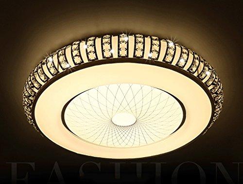 Modernen Kristall Deckenleuchte neue einfache LED Pendelleuchte rund hängende Licht die frische Wohnzimmeratmosphäre Schlafzimmer eingebettet verzweigte Deckenleuchte Creative Schlafzimmer Restaurant Beleuchtung Versprechen Dimmen 45 * 11cm
