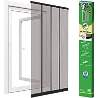 Easy Life Mosquitera Premium de láminas para puertas de fibra de vidrio - Mosquitera con cortinas a láminas para puertas en antracita, Talla:100 x 220 cm