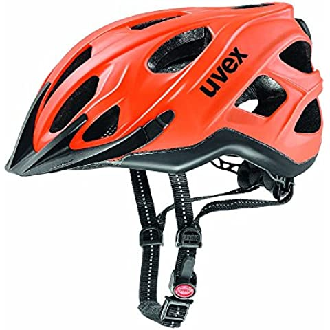 Uvex City S casco da bicicletta, Unisex, city s, Neon Orange-Black Mat, 56-61 cm