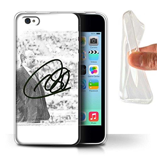 Offiziell Newcastle United FC Hülle / Gel TPU Case für Apple iPhone 5C / Pack 8pcs Muster / NUFC Rafa Benítez Kollektion Autogramm