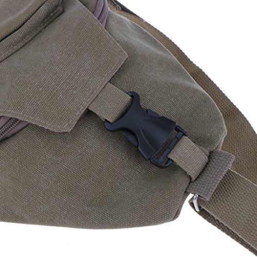 Rucksack Sling Bag Schulterrucksack Umhängetasche Daypack Crossbag Kamerarucksack mit Verstellbarem Schultergurt Perfekt für Outdoorsport, Wandern, Radfahren, Bergsteigen, Reisen,Schule - Grau Khaki