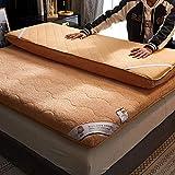 Verdickte lammfell matratze,Folding Winter Warme Tatami Matratze,Für Hotel Schlafzimmer Studie-B 180x200cm(71x79inch)