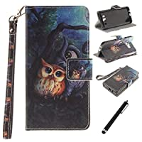 For Samsung Galaxy J5 2016 Case,Galaxy J5 2016 Flip Case,Beddouuk Owl Pattern Design PU Leather Wallet Flip Case Magnetic Closure Card Slots Stand Function Protective Case with Soft Inner Silicone Case Full Body Protection Backcover Bookstyle Case for Samsung Galaxy J5 2016