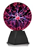 "WICKED GIZMOS ® Magic 8"" Plasma Ball – Touch Sensitive Glass Lightning Sphere - Classic Novelty Retro Fun Toy Gadget Mains Operated Gift Lamp for Home Bedroom Office Desk Table Top Orb Light (8 Inch)"