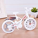 HZF-Home Geschenk, Farbe Fahrrad, Wecker, Kreativität, Persönlichkeit, Wecker für Kinder, weiß?Timer-Wecker
