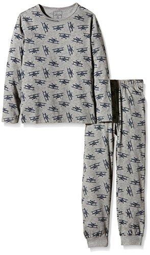 NAME IT Baby-Jungen Zweiteiliger Schlafanzug NITNIGHTSET K B NOOS, Gr. 122, Mehrfarbig (Grey Melange)