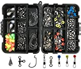 Best Bass Fishing Lines - JSHANMEI 160pcs/box Fishing Tackle Box Kit, Including Jig Review