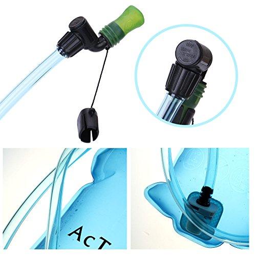 AcTopp Trinkblase 2L FDA genehmigt lecksicher Trinkbeutel mit Filter Wasserreservoir Rucksack Trinksystem für Rucksack - 5
