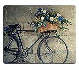Antik Fahrräder Blumenkorb View Maus Pad Hochwertigem und langlebigem Mauspad Gaming Mauspad