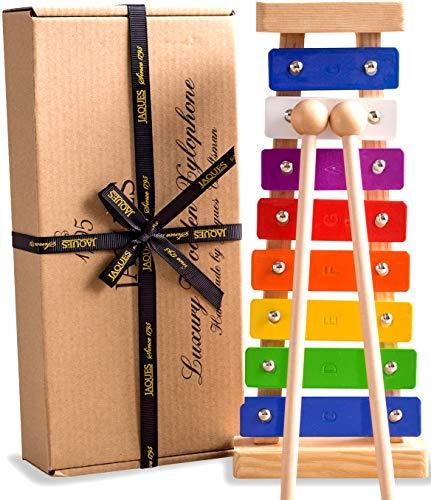 Jaques Von London Xylophon - Perfekt Spielzeug ab 1 2 3 Jahr Beinhaltet kostenlose Songblätter für Glockenspiel holzspielzeug - Quaility-Spiele seit 1795.