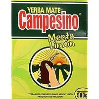 Goya Yerba Mate Campesino Menta Limón - 5 Paquetes de 500 gr - Total: 2500 gr