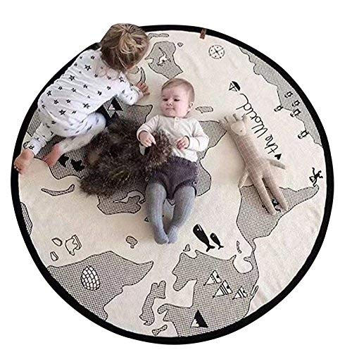 Capable Cotton Wool Ball Fabric Thickening Childrens Carpet Round Baby Crawling Mat Childrens Room Decoration Sufficient Supply Blanket & Swaddling Mother & Kids