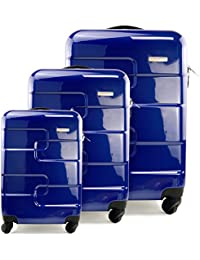 Lifetime Warranty Set of 3 (20/24/28 inch) Vesgantti ® Light Weight Hardshell Travel Luggage Suitcase