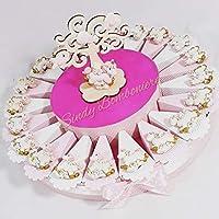 Torta Portaconfetti con Magnete Unicorno Rosa o Celeste. L'Unicorno è il simbolo della Purezza e della Meraviglia. Ideale per Nascita, Battesimo e Primo Compleanno di una Bimba o Bimbo. La Struttura Torta presentata in foto è composta da una ...