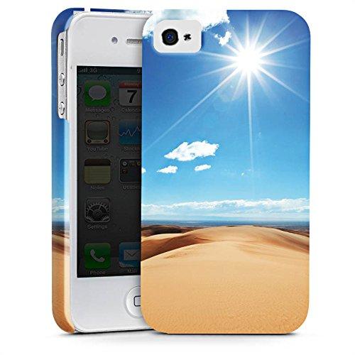 Apple iPhone X Silikon Hülle Case Schutzhülle Wüste Sand Sonne Premium Case glänzend