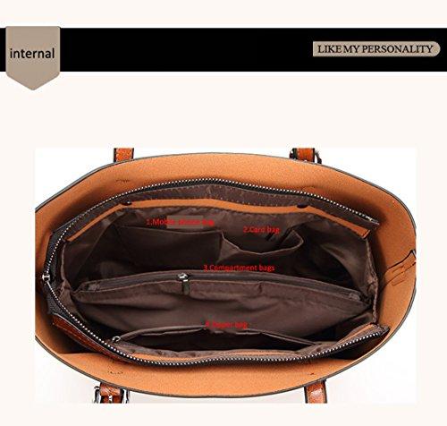 Panzexin Di Alta Qualità Di Lusso Pu Designer Borse Per Donna Borsa Grande Borsa A Tracolla Delle Donne Di Modo Borsa Tote Bag Rosso Bleu