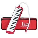 Dilwe melodica 32tasti melodica, con bocchino strumenti musicali per gli amanti della musica principianti con borsa da trasporto, Red