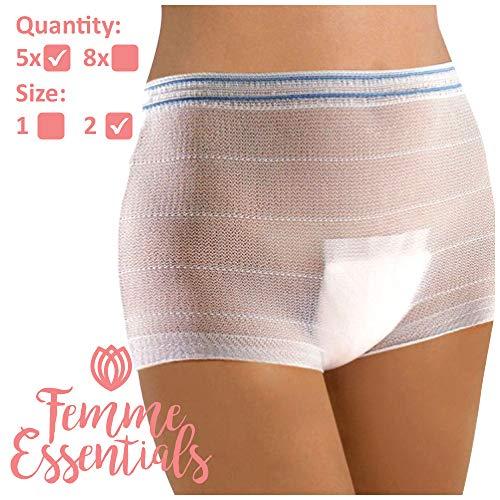5x Femme Essentials | Bragas Desechables Postparto por la maternidad